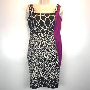 Teri Jon animal print sheath dress sz 6